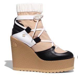 Chanel Wedge Lace Up Snow Boots FW19/20